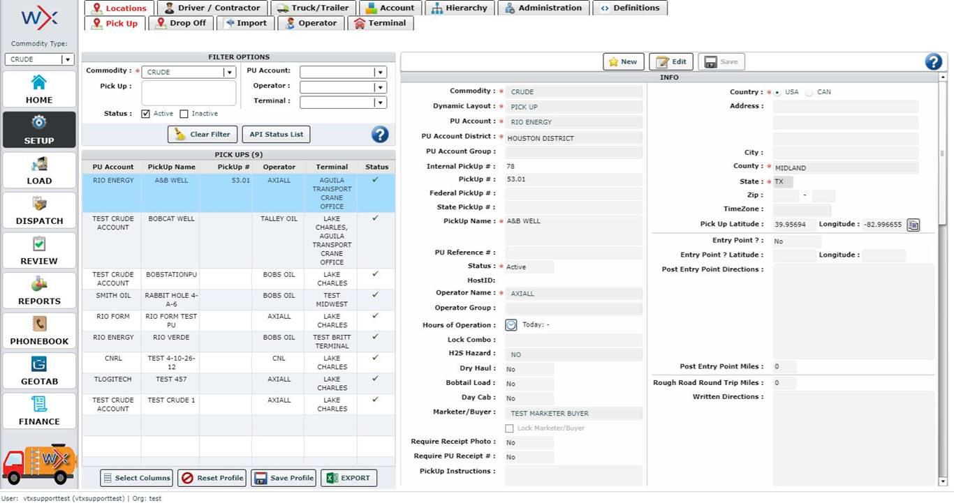 Welltrax - The Bulk Commodity Trucking Software Solution